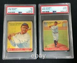 1933 Goudey Complete Set 239 Cards Babe Ruth and Lou Gehrig PSA Graded FR-GD