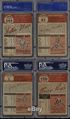 1953 Topps Baseball Complete Set (274) Mantle PSA 4 Mays PSA 4 50 Graded Cards