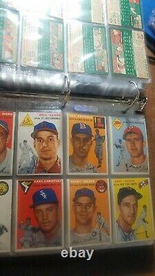 1954 Topps Baseball Complete Set (250 cards) EX -MT AARON PSA 4.5. BANKS PSA 6