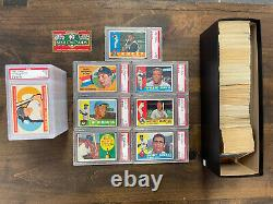 1960 TOPPS BASEBALL COMPLETE SET 572 MANTLE CLEMENTE McCOVEY RC +Graded Cards