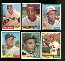 1961 Topps Baseball Complete Set 587 Cards Ex/MT Nice