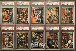 1962 Topps Mars Attacks Complete Set (1-55) All Cards PSA Graded