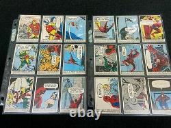 1966 Marvel Super Heroes Complete(66) Card Set Donruss Hulk, Spiderman, Thor