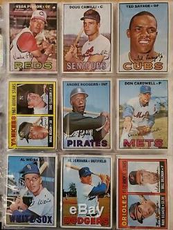 1967 TOPPS BASEBALL CARDS NEAR COMPLETE SET (608/609) 2 reprints