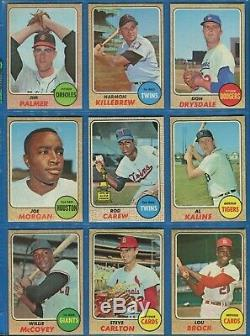 1968 Topps Baseball Complete 597/598 Card Set In Binder & Pages Ex No Nolan Ryan