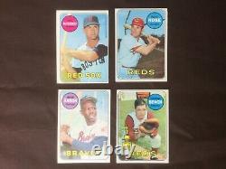 1969 Topps Baseball Complete Set Ex-NrMint 665 Cards Last Mantle PSA 8 No Crease