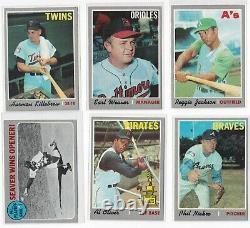 1970 Topps Baseball Complete Set EX NM-MT including 15 PSA GRADED CARDS RYAN