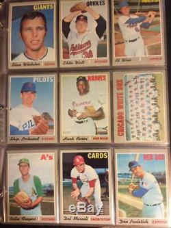 1970 Topps Baseball cards complete set of 1-720 in Nice Binder Mint Conditon