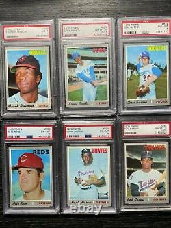 1970 Topps Complete Set Exmt Nm-mt 84 Graded Cards Seaver Mays Psa 7 Ryan