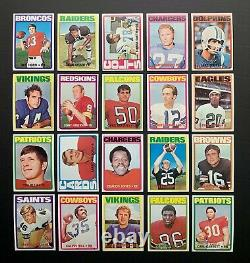 1972 TOPPS FOOTBALL HIGH GRADE COMPLETE SET (1-351) with 17 PSA GRADED CARDS
