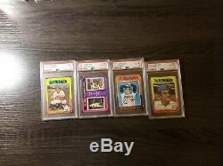1975 Topps Mini Baseball Complete Set! With19 PSA Graded Cards! NR MINT