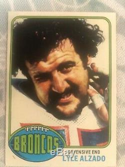 1976 topps football card complete set, Walter Payton PSA 7, Jack Lambert PSA 8