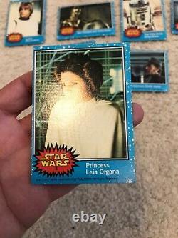 1977 STAR WARS Trading Card Series 1 Complete set Cards Blue Luke PSA sets fair