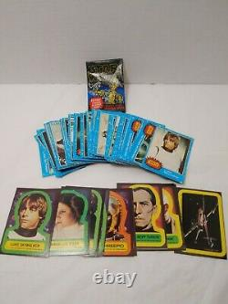 1977 Star Wars Series 1 Blue Trading Cards Stickers Wrapper COMPLETE Set Topps