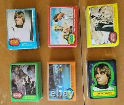 1977 Star Wars trading cards Complete Set 1 330 and Stickers 1 55