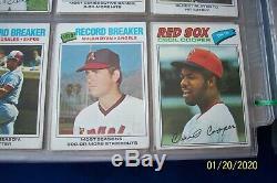 1977 Topps Complete 660 Baseball Card Set In Plastic Pages-dawson R. C-brett-ryan