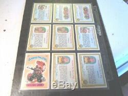 1985 85 GPK USA Garbage Pail Kids Series 1 complete ex to nrmt. SET of 82 cards