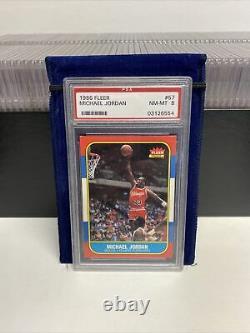 1986-1987 Fleer Basketball Complete Set 132 cards ALL PSA 8 NM-MT with Jordan RC