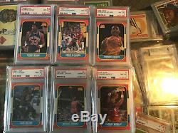 1986-87 Fleer Basketball 100%Complete Set #1-132 Withjordan Rc. 31 Psa 8 Cards