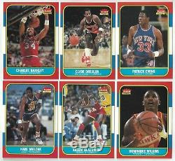 1986-87 Fleer Basketball Complete Set & Stickers Michael Jordan Rookie Cards RC