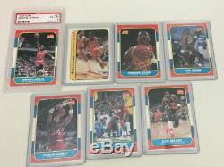 1986-87 Fleer Complete Set WithStickers Michael Jordan PSA 6 Rookie card GORGEOUS