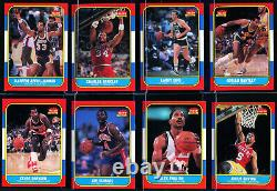 1986 FLEER COMPLETE SET (132) CARDS and (11) STICKERS with MICHAEL JORDAN PSA 7 NM