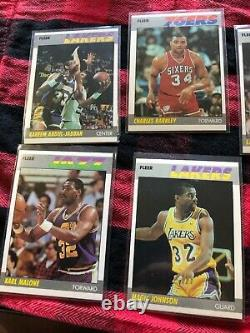 1987-88 1987 Fleer Complete Set with Stickers nrmt condition Jordan cards PSA 7