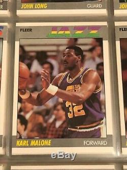 1987-88 1987 Fleer Complete Set with Stickers nrmt condition Jordan cards PSA 8
