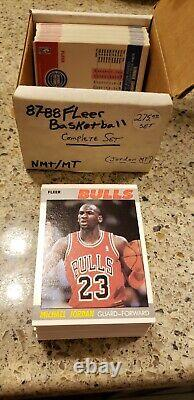 1987-88 Fleer Basketball Card Complete Set #1-132 Nm/mt