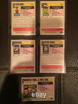 1991 Marvel Universe Series 2 COMPLETE HOLOGRAM INSERT CARD SET, #H1-H5 Impel