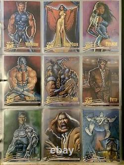 1996 Fleer Ultra Marvel X-Men Wolverine Trading Cards COMPLETE BASE SET, #1-100