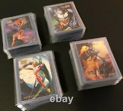 1996 Marvel Masterpieces Complete Base Set of 100 Cards Art by Boris & Julie