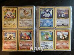 1999 Base Set Vintage Binder Pokemon Card Set Complete 102/102