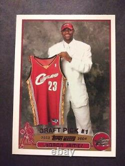 2003-04 Topps COMPLETE 249 Card Set Lebron James Dwyane Wade Anthony ROOKIES