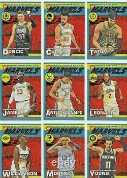 2020-21 Donruss Basketball NET MARVELS Complete Insert SET of (20) Cards