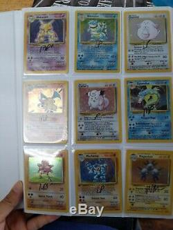Base Set UNLIMITED COMPLETE Set ALL 102 Cards 1999 Wizards of the Coast Pokemon