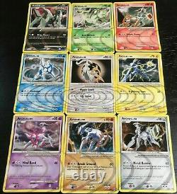COMPLETE Arceus 9 Card Set AR1-AR9 Holo Rare Ripple Foil Pokemon Platinum MP