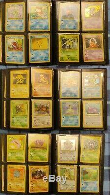 COMPLETE ORIGINAL SET Pokemon Card Binder 151/150. Base Jungle Fossil LP-NM