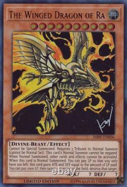 COMPLETE SET Yugioh Egyptian God Card Dark Magician Girl Blue Eyes JUMP-EN068