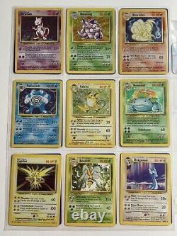 Complete Base Set 102/102 Pokemon Card Lot Holo Rare PL