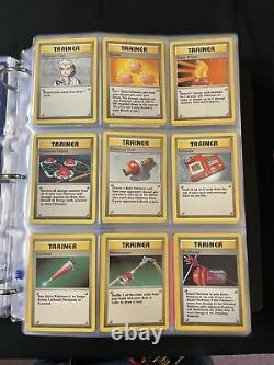 Complete Base Set Pokemon Cards 102/102 Charizard Rare WOTC 1999 Unlimited 100%