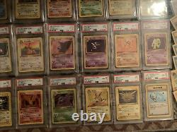 Complete Pokemon 1st Edition Fossil Set TCG 63/62 PSA 8 & 9 cards 1-30, 31-62 NM