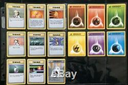 Complete Shadowless Base Set Pokemon Card Set Non Holo 17-102 Original Release