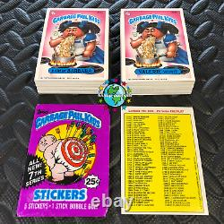 GARBAGE PAIL KIDS 7th SERIES 7 COMPLETE 88-CARD SET 1987 +FREE WAX WRAPPER OS7