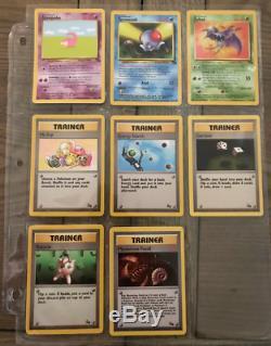 Near Mint Complete Pokemon Fossil Set 62/62 100% Original Cards 15 Holos