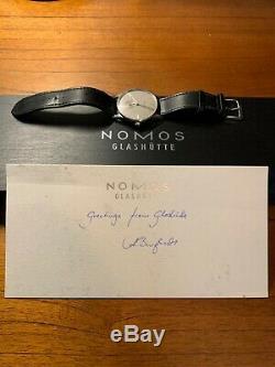 Nomos Orion 38 Grey Complete Set (Warranty Card/Box/Booklet) Retail $2,620