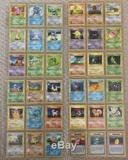Pokemon 100% Complete Shadowless Base Set 102/102 Original 1999 Charizard Card