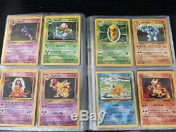 Pokemon Card Base Set Complete 1-102 Charizard Blastoise Venasaur Great Conditon