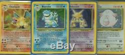 Pokemon Card Base Set Complete 102/102 Charizard Blastoise Venusaur LP-(EX/NM)