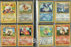 Pokemon Card Base Set Complete Non-Holo-Foil Rare 17-102 EXC/NM Condition
